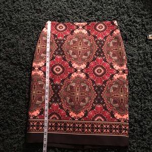 Beautiful EUC Talbots Paisley Pencil Skirt Sz 2